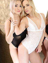 Two sexy girls of the night get a small hotel room and after a few drinks make a plan and call a male escort to come over for some fun...Cayla and Vinna are sexually uninhibited and looking for a good time. This fun-loving pair cannot resist reeling in Ricky, teasing him and lucky for him taking him off to bed. Not that he objected...They love to share and control their man as well as their orgasms; which are even stronger when they can watch each other with a guy.
