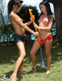 Lesbian Lacrosse featuring Sasha Rose & Tanner Mayes by Als Photographer