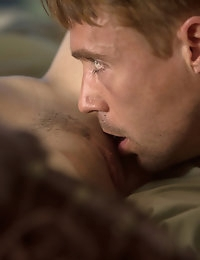 Natasha and her lover share an intimate moment of deliberate and intense passion away from the bedroom.