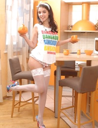 Playing naughty games always give deep satisfaction. Look for this stunning chick having fun as a hot as well naughty maid.