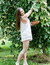Nicole Pearl is picking fruit in the countryside, they are tasty and wake up her deepest desires for unexplored pleasures. When she is joined by Kristof Cale they both decide to taste the forbidden fruit of anal sex.