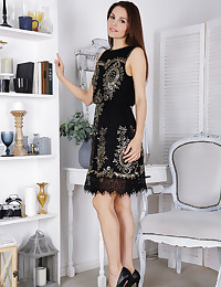 Black Dress featuring Alise Moreno by Flora