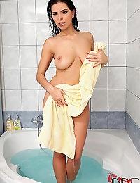 Russian Goddess Kira Queen Showers & Spreads Her Wet Snatch