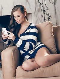Nothing keeps Jillian warm on a winter's night while her boyfriend is out of town on business like lighting a crackling fire and sending him intimate selfies. The thrill of answering his sexts with naughty images that reveal more of her body with each picture, gets her so horny waiting for his replies. Once she's warm and wet between her legs, she puts the camera aside and finishes what they started together, masturbating herself to a big finish. Watch as she shows you exactly how she plays with her shaved pussy, rubbing her hands between her legs and teasing the clit with eager fingers.