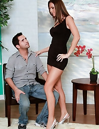 Busty MILF Jennifer Dark has an addiction to sex Kris Slater is just the man to fill her needs.