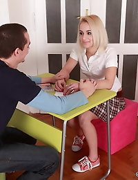Licking and sucking Vendula's pussy is fun and this guy makes her super wet in this great video. When her snatch becomes soaked she starts sucking her man's pecker. Vendula loves a hard fucking in her teen cunt and they will bang all over the floor in a few positions till his dick fills her snatch with his burning cum.