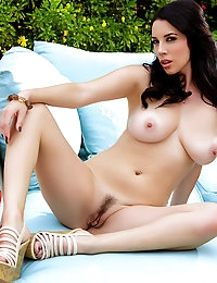 Jelena Jensen removes her clothes showing her holes off
