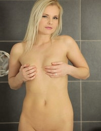 Stunning blonde uses all sorts of sex toys