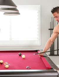 Rachel always loses at pool but she's found a way to make losing very arousing