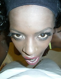 Horny slutty black girlfriend takes selfshot pictures of her pink pussy for her boyfriend
