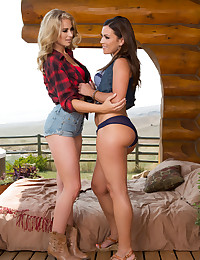 Alyssa Reece eats Maya Rae's shaved Pussy