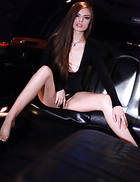 Sultry babe Zoe Wood gets it on in a limousine as she puts her nubile body to work sucking and fucking her lovers cock