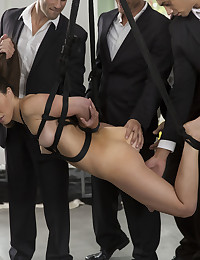 """What better way to kick off """"Sunday fun day"""" than seeing our gorgeous French girl Tiffany Doll getting fucked by five hot and horny guys at the same time (or almost the same time...at least three at once!) She's filled up like never before, and has no problem handling the hard cocks and cum loads of these stallions. We'll let the orgasms speak for themselves. Cum experience the fun in five on one orgy sex! Tiffany loves this stuff! Let her show you how it's done! And ask her about it on X-Art xoxo Colette"""