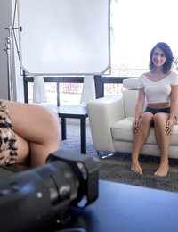 Lusty teen Joseline Kelly gets casted by Odette Delacroix in a pussy pounding fuck fest horny interview