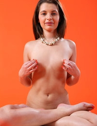 Sweet Liona with small perky tits gets her pink pussy ready for sex