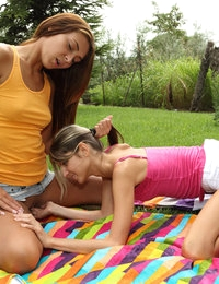 Frisbee Foreplay featuring Alexis Brill & Gina Gerson by Als Photographer