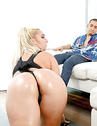 Nina Kay may just have the phattest ass we've seen here at TeenCurves. It  didn't look like Bruno could handle her, but he gave this XXL package the works, including a hot cream pie.