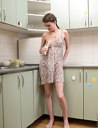 Nubiles.net Jemma - Beautiful amateur gets naked and teases her dripping pussy with rabbit toy