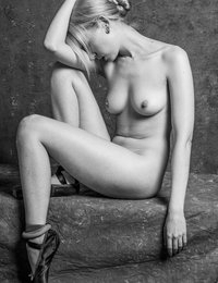 Our favorite naked ballet dancer, Magdalene, returns with some classic poses for an update to her black & white portfolio.